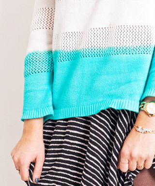 DIY to Try This Weekend: Create a Spring-Ready Dip-Dyed Sweater