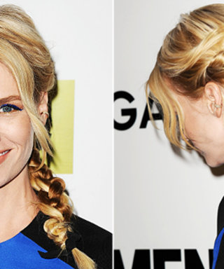 Rainy Day Hair Idea: We're Mad About January Jones' Gorgeous Braid