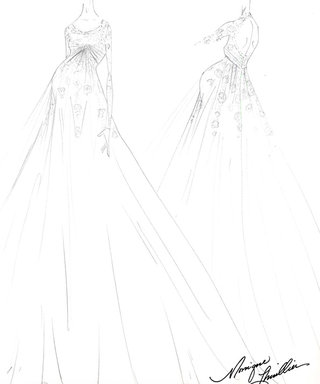 A Real Happily Ever After! Ginnifer Goodwin's Wedding Gown Design Revealed