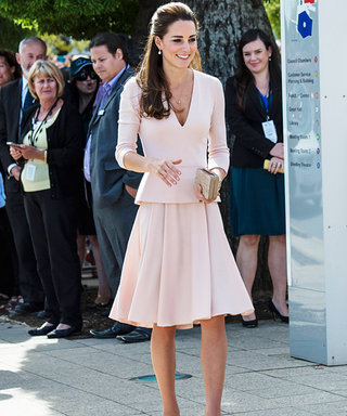 Kate Middleton Delights in a Blush-Hued Ensemble