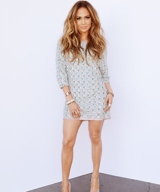 Jennifer Lopez Shines in a Geometric Print Minidress on American Idol
