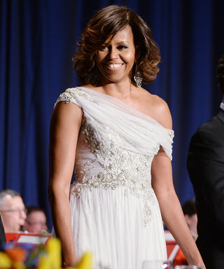 Michelle Obama Stuns in Gray Marchesa at the White House Correspondents' Dinner