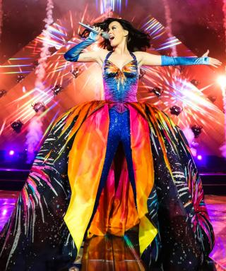 Katy Perry's Tour Outfits Include Rainbow Couture and a Stunning Skintight Catsuit