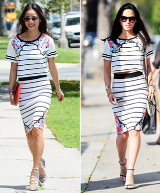 Found It! Jamie Chung and Olivia Munn's Crop Top and Skirt Combo
