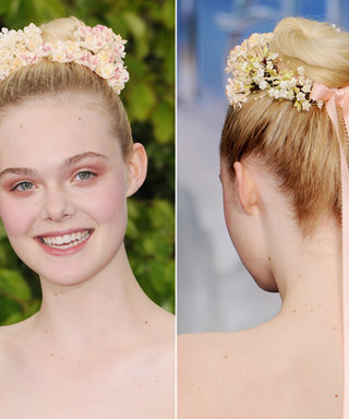 Elle Fanning Creates a Fairytale Headdress for a Night at the Palace