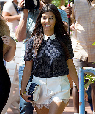 Found It! Kourtney Kardashian's Charming Collared Top
