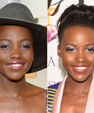 Lupita Nyong'o Can't Get Enough of Her Cobalt Blue Eyeshadow