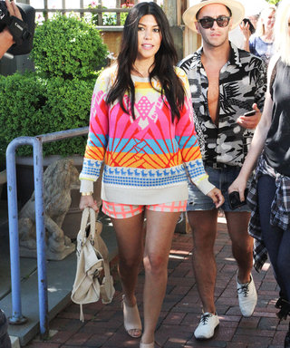 Get Kourtney Kardashian's Masterfully Mixed Outfit