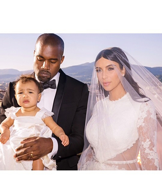 Kim and Khloé Kardashian Share New Photos of Baby North at the Kimye Wedding