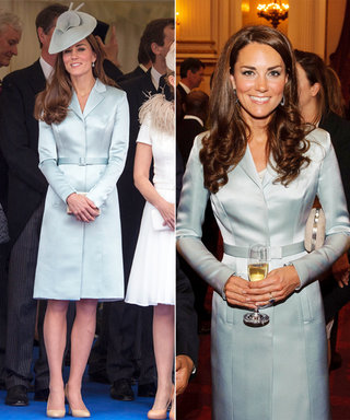 Kate Middleton Looks as Posh as Ever in Her Pale Blue Coatdress—and It's a Repeat!