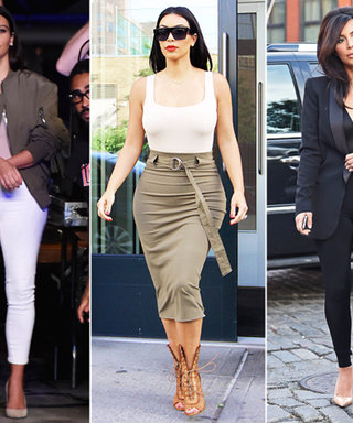 Kim Kardashian Shows Off Her Trim Figure in a Trio of Post-Honeymoon Looks