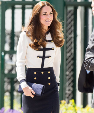 Kate Middleton Opts for Military Chic in a Recycled Alexander McQueen Outfit