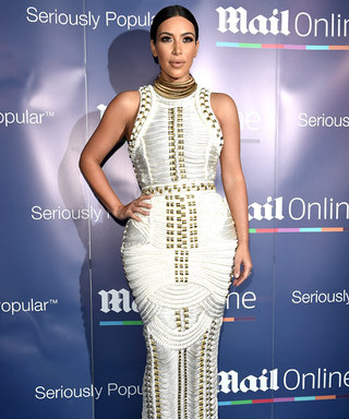 Kim Kardashian Wears a Curve-Hugging Rope Dress That's Perfect for a Yacht Party