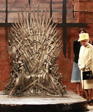 Photo of the Day: Queen Elizabeth Sets Her Sights on Game of Thrones's Iron Throne