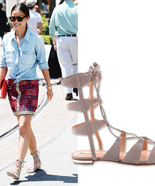 Jamie Chung Introduces This Summer's New Gladiator Sandal