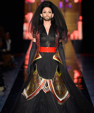 Drag Singer Conchita Wurst Closes Jean Paul Gaultier Couture Fall 2014 Show