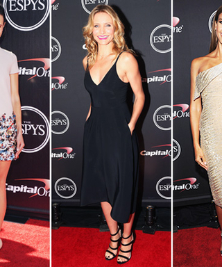 Golden Girl! Jessica Alba Dazzled the 2014 ESPY Awards Red Carpet