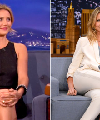 Cameron Diaz Wins the Late Night Talk Show Circuit with Her Sharp, Chic Style