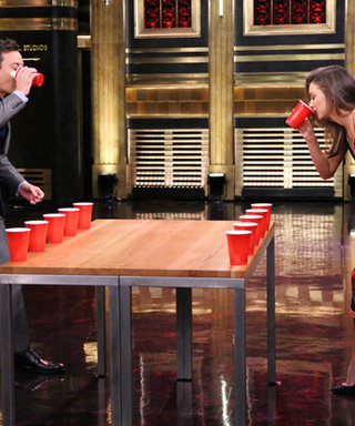 Miranda Kerr and Jimmy Fallon Play Flip Cup—See Who Wins!