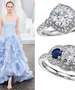 #RocksMyWorld: Monique Lhuillier Adds Something Blue and More to Her Engagement Ring Collection