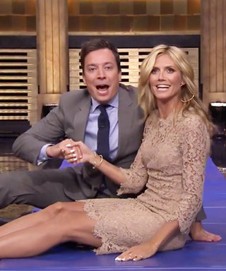 Heidi Klum Quite Literally Goes Head-Over-Heels for Jimmy Fallon