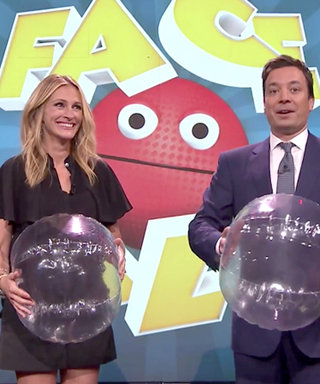 Ultimate Good Sport Julia Roberts Gets Pummeled with Beach Balls by Jimmy Fallon
