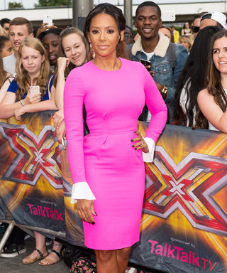 Mel B Looks Pretty in Pink at the X Factor UK Auditions