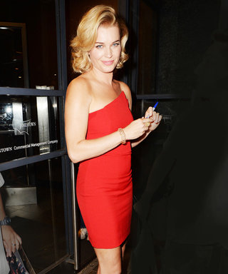 Rebecca Romijn Looks Red Hot in a Minidress from Michelle Mason