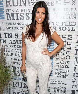 Mamma Mia! Check Out Kourtney Kardashian's Sexy Lace Maternity Jumpsuit