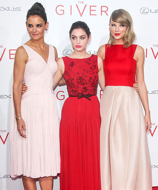 Katie Holmes, Odeya Rush, and Taylor Swift Color-Coordinate at The Giver Premiere