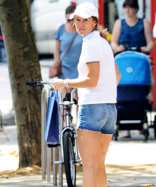 How Sporty! Pippa Middleton Wears Cutoff Denim Shorts and Goes Makeup-Free