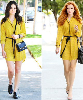 Emmy Rossum and Bella Thorne Twin It Up in Loft