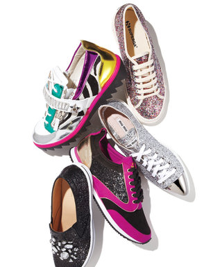 Trend to Try: Super Sparkly Sneaks