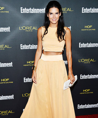 Angie Harmon Channels the '70s in a Midriff-Baring Ensemble