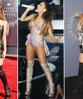 Ariana Grande Steps Out in Style with 3 Pairs of Thigh-High Boots at the MTV VMAs