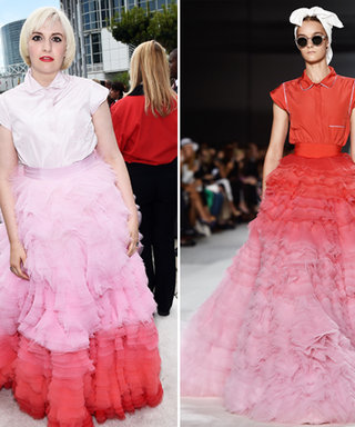 Runway to Red Carpet: Lena Dunham Wears a Look Straight from the Couture Catwalk at the 2014 Emmys
