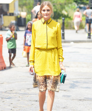 Olivia Palermo Gives This Loft Dress an Incredibly Unique Twist