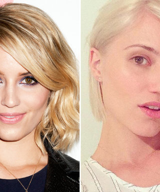 Dianna Agron Takes to Twitter with a New Platinum 'Do