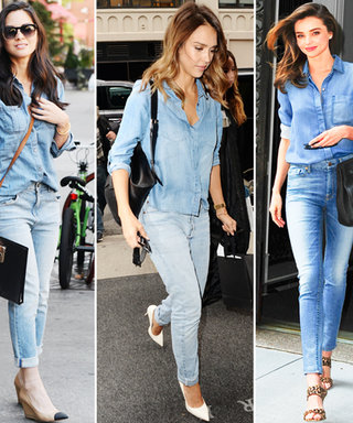 Rock This Star-Approved Street Style Trend: Denim on Denim