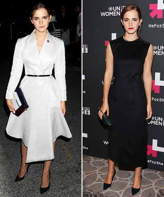 Emma Watson Delivers an Impactful Speech and Two Sophisticated Outfits In One Day