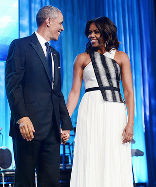 Michelle Obama Lights Up the Phoenix Awards Dinner in a Monochromatic Gown