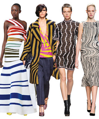 We're Lining Up For this Fall Trend: Linear Prints