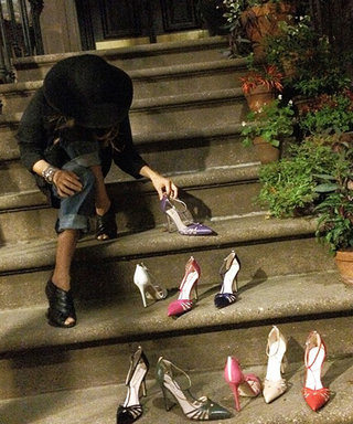 """Sarah Jessica Parker Revisits Carrie Bradshaw's Doorstep from Sex and the City with Her Collection of """"Carrie"""" Shoes"""