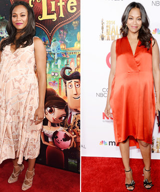 Zoe Saldana Bumps Up Her Maternity Style with Two Exceptional Red Carpet Looks
