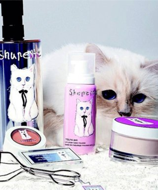 Choupette Lagerfeld's Shu Uemura Makeup Collection Is Available Now!