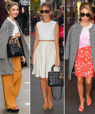 Nothing Basic About This! Sarah Hyland Steps Out in a Winning Trifecta of Street-Chic Looks