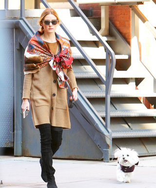 Of Course Olivia Palermo Found a New Way to Tie a Scarf