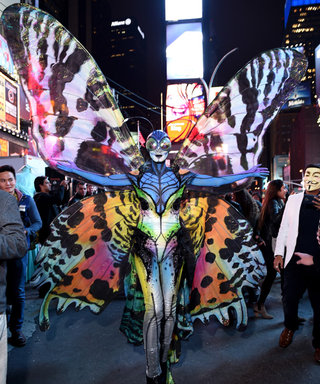 Heidi Klum Transforms Into a Trippy Butterfly for Halloween