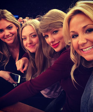 Kate Upton, Amanda Seyfried, and Taylor Swift Snap a Selfie at the Knicks Game