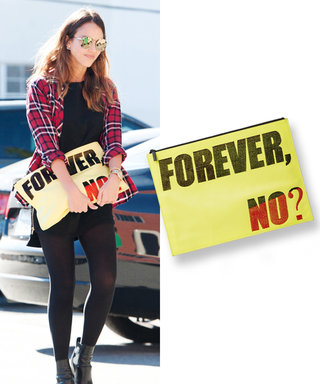 Found It! Jessica Alba's Amazing Statement-Making Pouch (Plus Eight More Hot Picks )